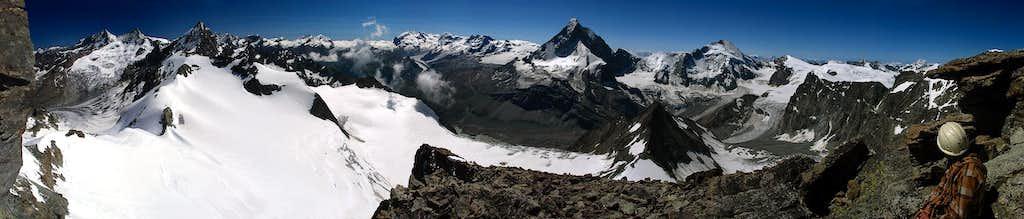 Matterhorn & Monte Roza Grup from Pointe de Zinal