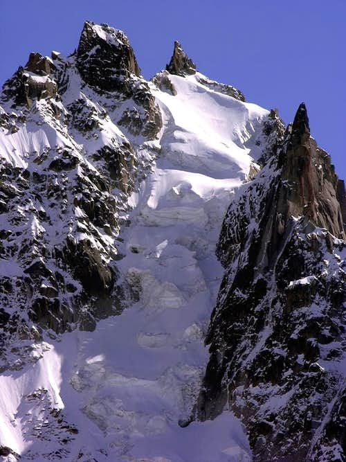 Aiguille du Plan (3673 m), north face