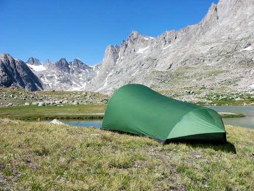 Camp at Upper Titcomb Lakes....