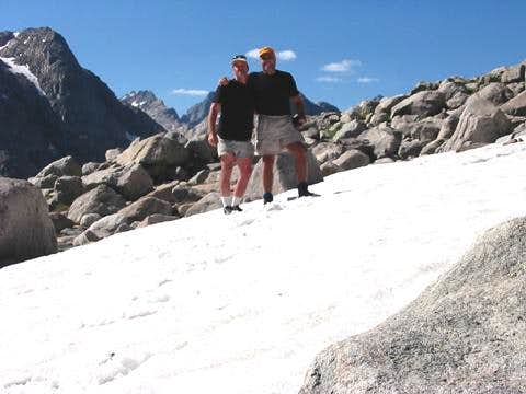 Brother and I near basecamp....