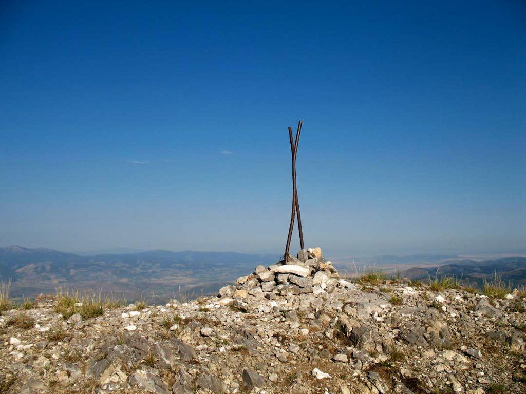 The summit of Meade Peak