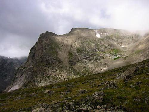 Shoshoni Peak on a stormy...