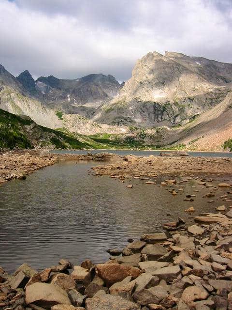 Shoshoni Peak is prominent on...