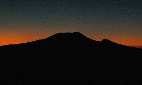 Kili sunset from Meru