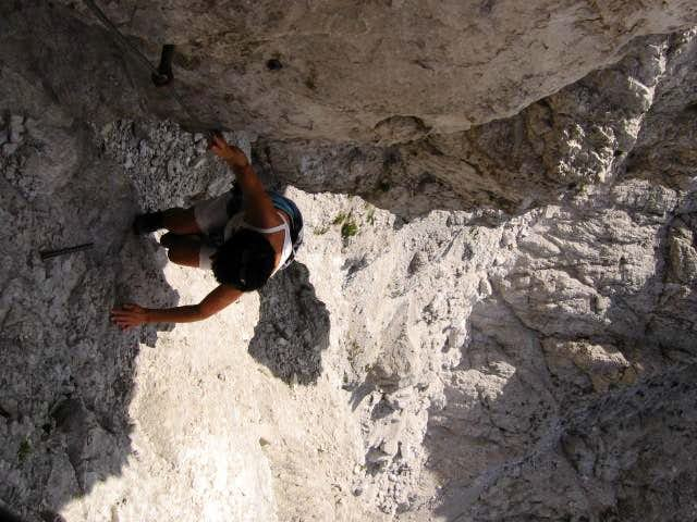 Climbing in first passage of Velika baba