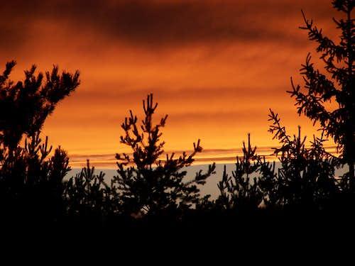 Sunset over the High Tatras