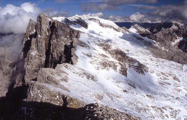 View from the summit of the...