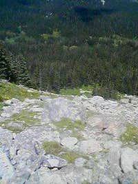 Halfway up Niwot Ridge from Long Lake