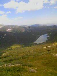 Looking down towards Long Lake