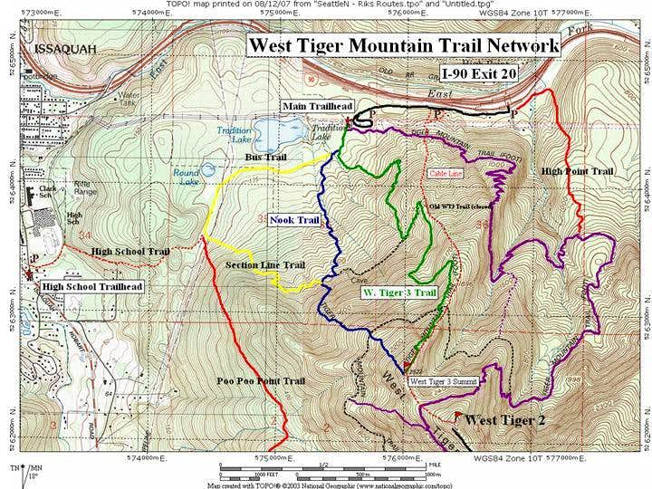 Tiger Mountain Map Tiger Mountain : Climbing, Hiking & Mountaineering : SummitPost Tiger Mountain Map