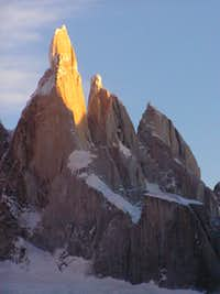 Cerro Torre, the first lights of dawn