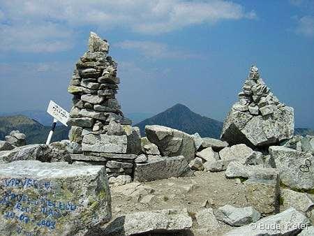 Retezat peak from Peleaga peak