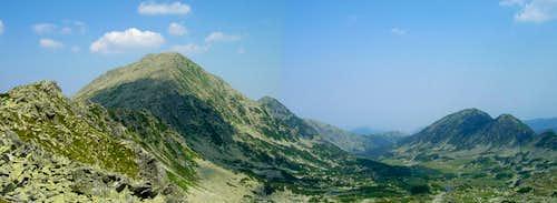 Retezat peak and its east face