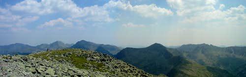 South view from Retezat peak