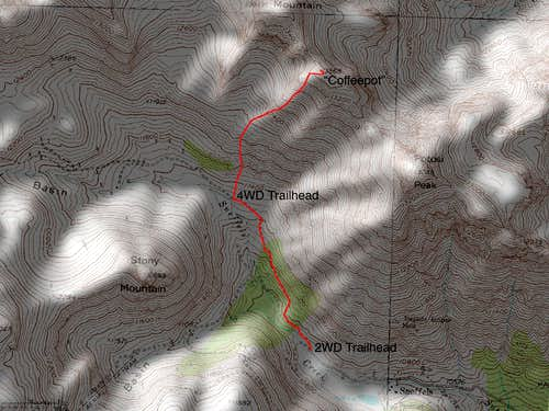 Coffeepot's East Face Route