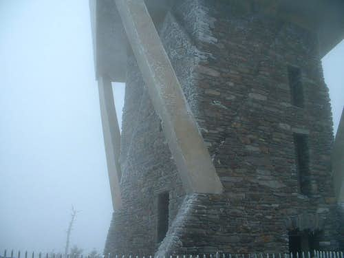 The Old Tower in freezing fog