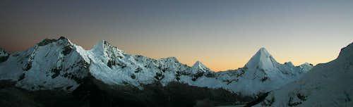 Artesonraju Sunrise Panorama