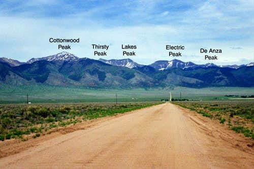 The north-central Sangre de...