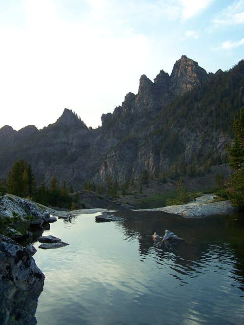 Pine Creek Lake outlet relection