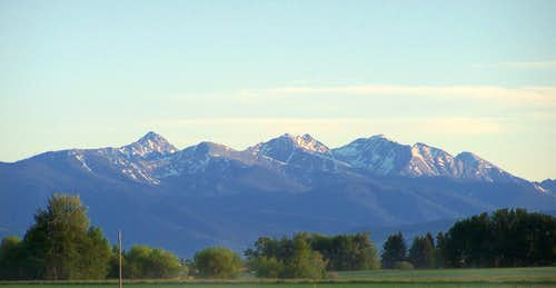 The impressive Spanish Peaks