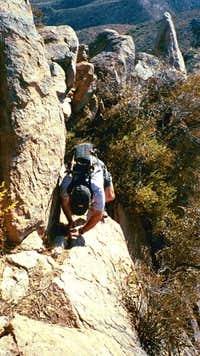 The crux of the climb right...