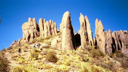 The Pinnacles near the summit
