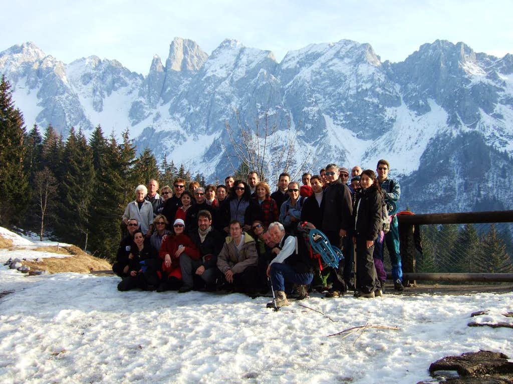 snowshoeing to Monte Campioncino
