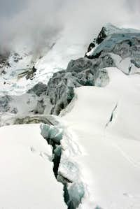Broken Glacier on Chopicalqui