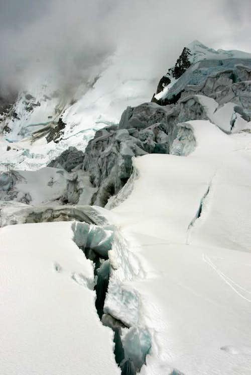 Broken Glacier on Chopicalqui