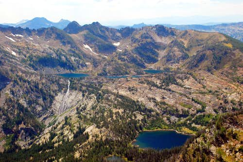Lakes Below Pyramid Buttes