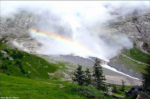 Avalanche from Wetterhorn