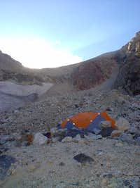 Camping in the Moraine