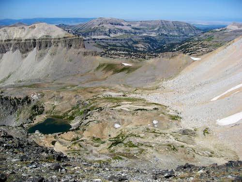 Static peak view north