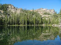 Sierra Buttes from Volcano Lake