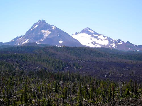 North and Middle Sister from McKenzie Pass