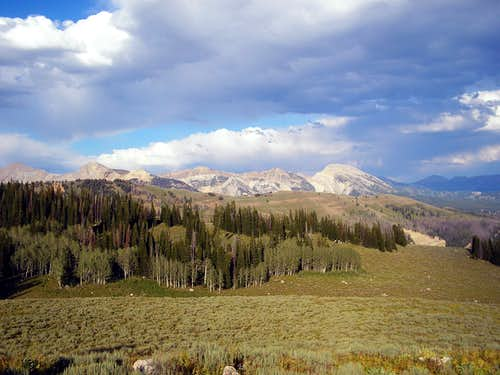 Some of the Gros Ventre\'s Tallest Peaks