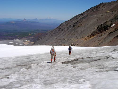 Descending the Collier Glacier