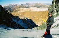 On the ridge above Dana Couloir