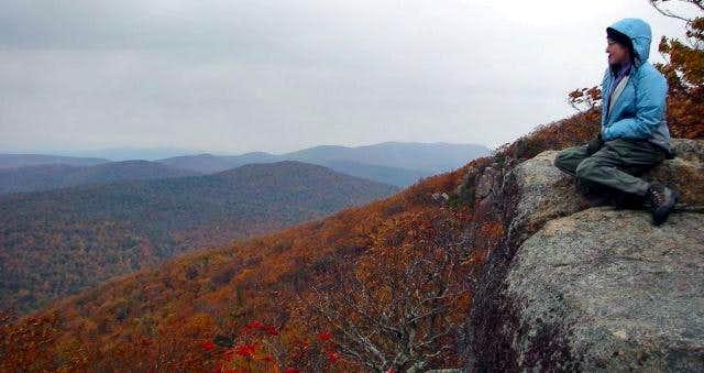 Break time near summit.