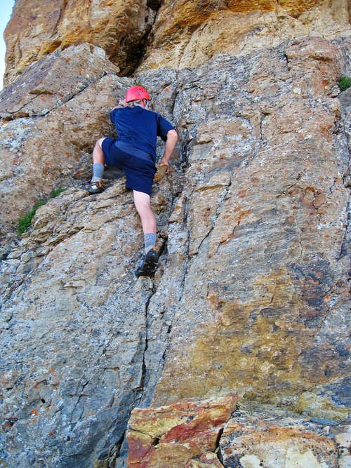 Steep class 4 crux on US Grant