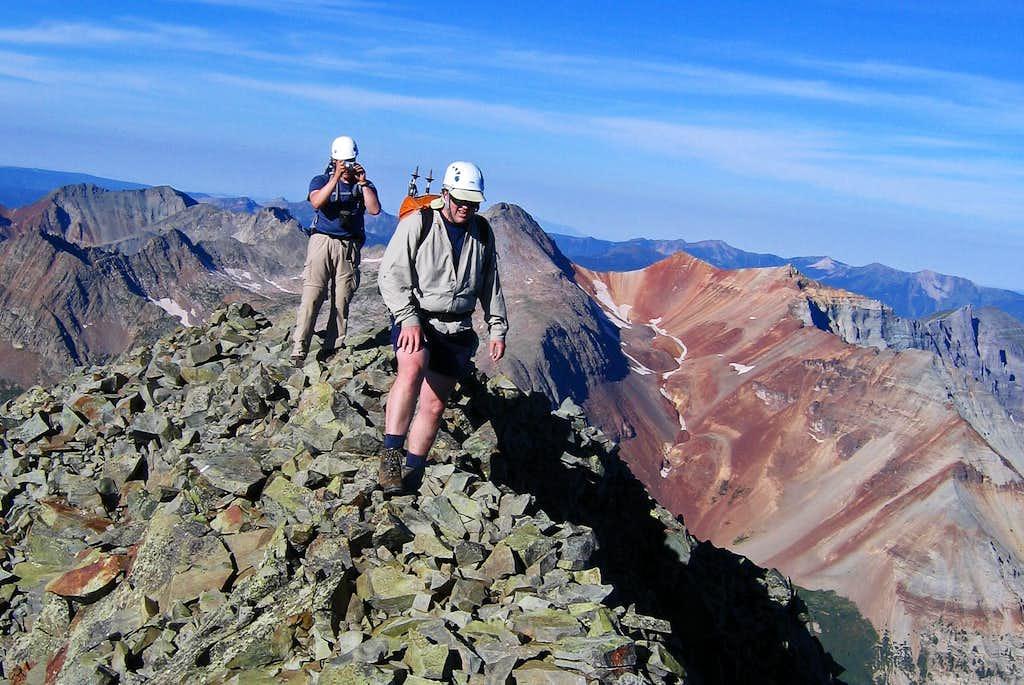 Ridge crest on Vermilion summit