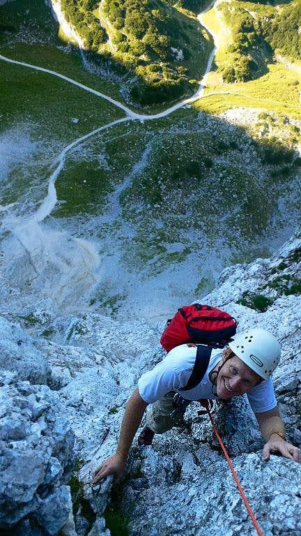 Michael on the Bernadeinwand