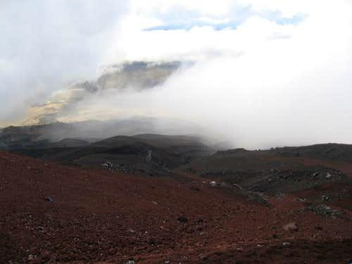 Red dirt on Cotopaxi