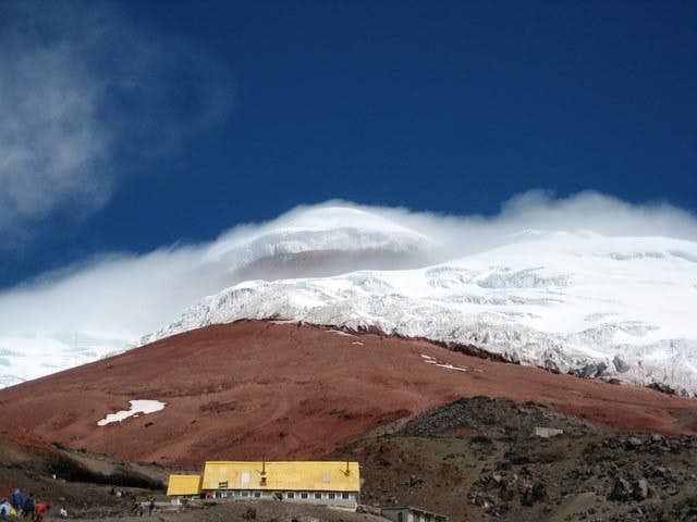 Cotopaxi and refuge from below