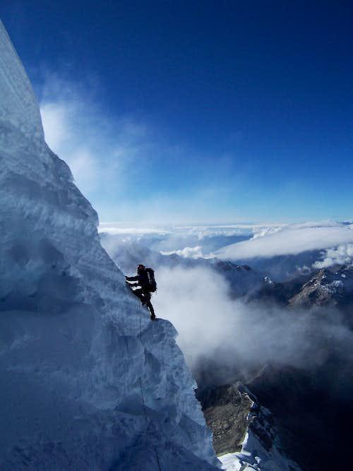 Ascending the Summit Mushroom