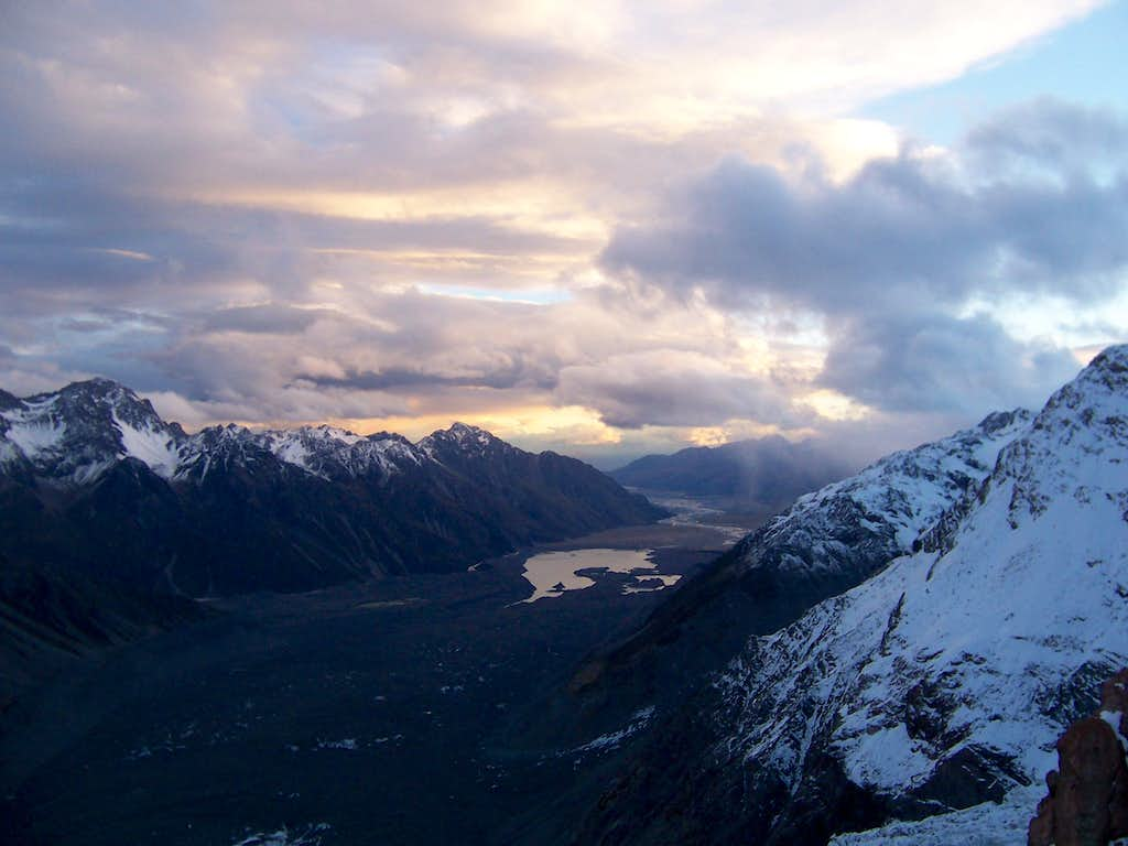 The view from Haast Hut