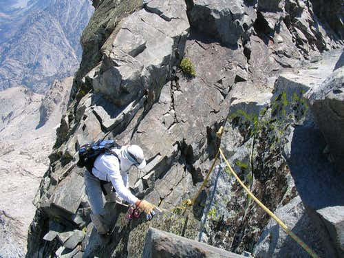 The crux of the NW Arete