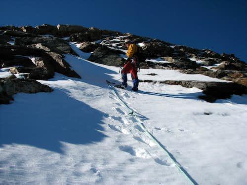 Ascent to Schneebige Nock / Monte Nevoso over N ridge.