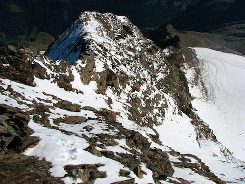 View down on N ridge of Schneebige Nock / Monte Nevoso, 3358m.