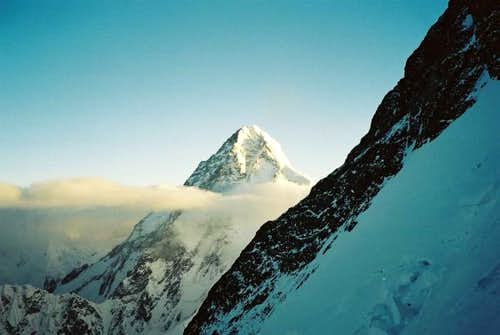 A stunning view across to K2...